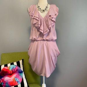 Jessica Simpson Lilac Ruffle Bubble Skirt Dress